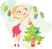 ξανθά Χριστούγεννα Διανυσματική απεικόνιση