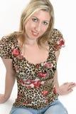 ξανθές ευτυχείς νεολαί&eps στοκ φωτογραφία με δικαίωμα ελεύθερης χρήσης