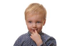 ξανθές νεολαίες αγοριών Στοκ Φωτογραφίες