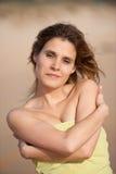 ξανθές νεολαίες γυναικών παραλιών στοκ φωτογραφίες με δικαίωμα ελεύθερης χρήσης