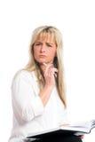 ξανθές νεολαίες επιχει&rh Στοκ φωτογραφία με δικαίωμα ελεύθερης χρήσης