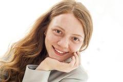 ξανθές νεολαίες γυναικών πορτρέτου Στοκ Εικόνες