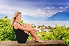 ξανθές νεολαίες γυναικών πορτρέτου Στοκ Φωτογραφία