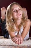 ξανθές ρωσικές νεολαίες στοκ εικόνες