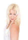 ξανθή γυναίκα πορτρέτου στοκ εικόνες