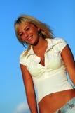 ξανθή γυναίκα Στοκ εικόνες με δικαίωμα ελεύθερης χρήσης
