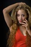 ξανθή επικεφαλής όμορφη γ&ups στοκ εικόνα με δικαίωμα ελεύθερης χρήσης
