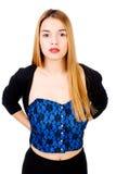 ξανθή θέτοντας γυναίκα Στοκ φωτογραφία με δικαίωμα ελεύθερης χρήσης