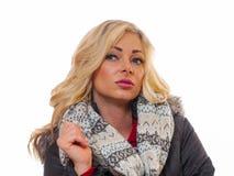 ξανθή θέτοντας γυναίκα Στοκ εικόνα με δικαίωμα ελεύθερης χρήσης