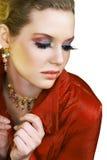 ξανθή κόκκινη γυναίκα Στοκ φωτογραφία με δικαίωμα ελεύθερης χρήσης