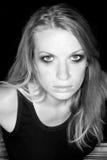 ξανθή λαμπρή γυναίκα Στοκ εικόνα με δικαίωμα ελεύθερης χρήσης