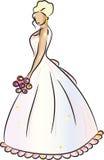 ξανθή νύφη διανυσματική απεικόνιση
