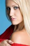 ξανθή πανέμορφη γυναίκα Στοκ Φωτογραφία