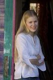 ξανθή όμορφη γυναίκα Στοκ εικόνες με δικαίωμα ελεύθερης χρήσης