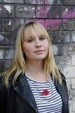ξανθή όμορφη γυναίκα Στοκ Εικόνα