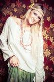ξανθή όμορφη γυναίκα Στοκ Φωτογραφίες