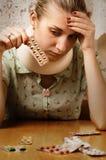 ξανθοί άρρωστοι κοριτσιών Στοκ φωτογραφίες με δικαίωμα ελεύθερης χρήσης