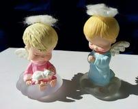 Ξανθοί μαλλιαροί άγγελοι χερουβείμ Στοκ φωτογραφία με δικαίωμα ελεύθερης χρήσης