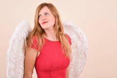 Ξανθός άγγελος Χριστουγέννων Στοκ φωτογραφίες με δικαίωμα ελεύθερης χρήσης