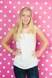 ξανθός έφηβος κοριτσιών Στοκ Φωτογραφία