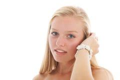 ξανθός έφηβος κοριτσιών Στοκ Εικόνα