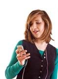 ξανθός έφηβος μουσικής κοριτσιών ακούοντας Στοκ φωτογραφία με δικαίωμα ελεύθερης χρήσης