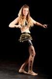 Ξανθός ασιατικός χορευτής κοιλιών Στοκ Εικόνες