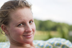 ξανθός γυναικείος Τούρκ&om στοκ εικόνες με δικαίωμα ελεύθερης χρήσης