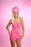 ξανθός εργαζόμενος γοητ&e Στοκ εικόνες με δικαίωμα ελεύθερης χρήσης