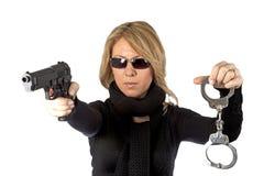 ξανθός ιδιωτικός αστυνο&mu Στοκ φωτογραφία με δικαίωμα ελεύθερης χρήσης