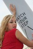 ξανθός προκλητικός Στοκ εικόνα με δικαίωμα ελεύθερης χρήσης