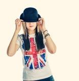 Ξανθός το καπέλο σφαιριστών Στοκ εικόνα με δικαίωμα ελεύθερης χρήσης