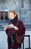 Ξανθός χάρτης εκμετάλλευσης νέων κοριτσιών και έρευνα του τρόπου της Στοκ Φωτογραφία