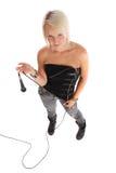 ξανθός rockstar Στοκ εικόνα με δικαίωμα ελεύθερης χρήσης