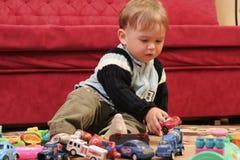 ξανθό αγόρι μωρών λίγα Στοκ Εικόνα