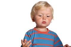 Ξανθό αγόρι δύο ετών παιδιών Στοκ Φωτογραφία