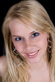 ξανθό αισθησιακό χαμόγελ&omi Στοκ φωτογραφία με δικαίωμα ελεύθερης χρήσης