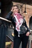 ξανθό δέρμα σακακιών προκλ& Στοκ Εικόνες