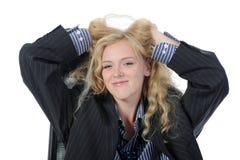 ξανθό εύθυμο αρσενικό κο&si Στοκ Εικόνες