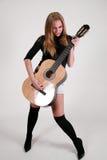 ξανθό θηλυκό rocker gosia Στοκ Εικόνα