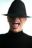 ξανθό καπέλο κοριτσιών Στοκ Εικόνα