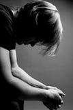 ξανθό καταθλιπτικό άτομο Στοκ φωτογραφίες με δικαίωμα ελεύθερης χρήσης