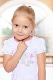 ξανθό κορίτσι λίγα Στοκ Φωτογραφία