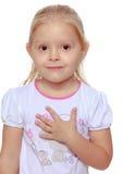 ξανθό κορίτσι λίγα Στοκ εικόνα με δικαίωμα ελεύθερης χρήσης