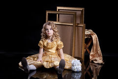 ξανθό κορίτσι λίγα Στοκ φωτογραφία με δικαίωμα ελεύθερης χρήσης