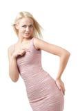 ξανθό κορίτσι φορεμάτων στοκ εικόνες με δικαίωμα ελεύθερης χρήσης