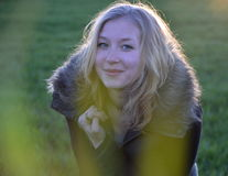 Ξανθό κορίτσι Στοκ εικόνες με δικαίωμα ελεύθερης χρήσης
