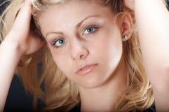 ξανθό κορίτσι Στοκ Φωτογραφίες