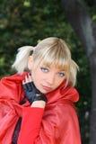 ξανθό κόκκινο κοριτσιών Στοκ φωτογραφίες με δικαίωμα ελεύθερης χρήσης