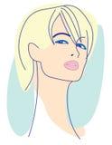 ξανθό μοντέλο μόδας απεικόνιση αποθεμάτων